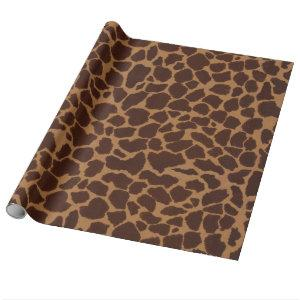 Giraffe Skin Print Pattern Sheets Wrapping Paper
