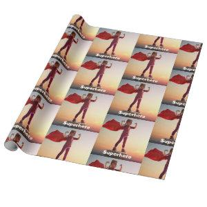 Girl Superhero Wrapping Paper
