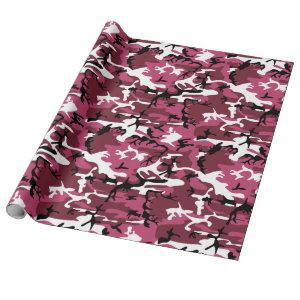 Girly Pink Camo Wrapping Paper