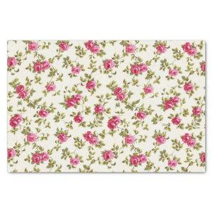 Girly Pretty Pink Floral Print Pattern Tissue Paper