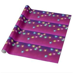 Glowing Holiday Lights Wrapping Paper