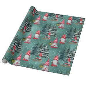Gnomes In Winter Wrapping Paper