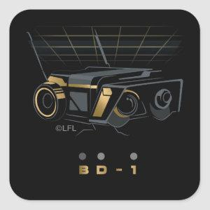 Gold BD-1 Square Sticker