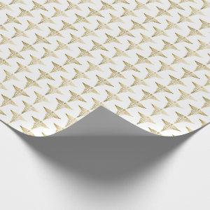 Gold Caduceus Doctor Medical Symbol Pattern Wrapping Paper