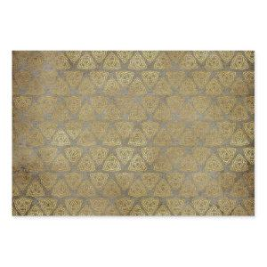 Gold Celtic Trinity Knot Wrapping Paper Sheets