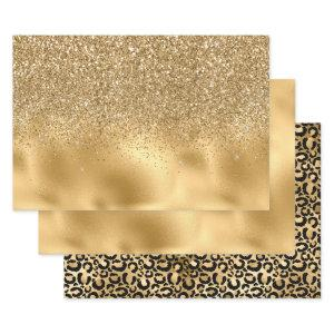 Gold Glam Wrapping Paper Sheets