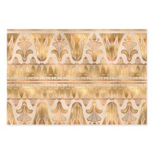 Gold Shimmer Art Deco Wrapping Paper Sheets