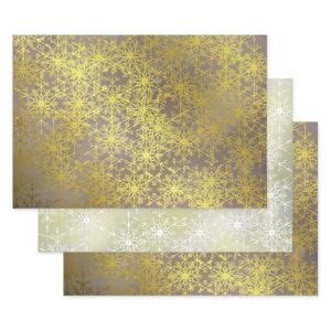 gold stars,Christmas+ paper, winter+patte, merry+x Wrapping Paper Sheets