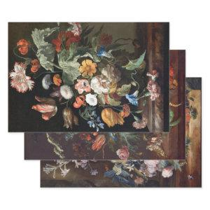 GOLDEN AGE FLORALS HEAVY WEIGHT DECOUPAGE WRAPPING PAPER SHEETS