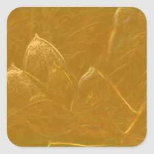 GOLDEN LOTUS2 SQUARE STICKER