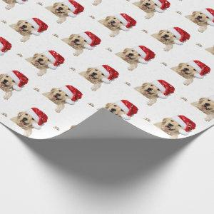 Golden Retriever and Santa hat Wrapping Paper