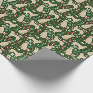 Golden Retriever Christmas wrapping paper