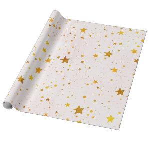 Golden Stars Wrapping Paper