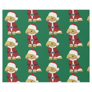 Goldendoodle Dog Santa Paws Wrapping Paper