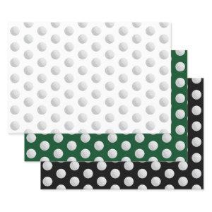 Golf Ball Sports Any Occasion Wrapping Paper Sheets