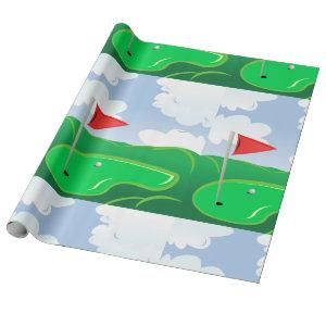 Golf Course Green Wrapping Paper