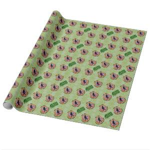 Gone Squatchin and camouflage hunting permit Wrapping Paper