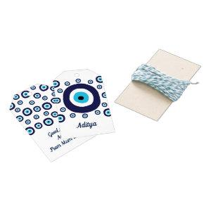 Good Luck Safe Trip Moving Abroad Lucky Evil Eye Gift Tags