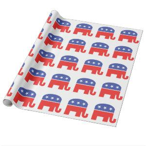 GOP Republican Party Elephant Symbol Wrapping Paper