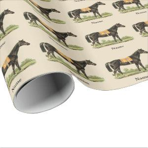 Gorgeous Horse Art Gift Wrap Personalized