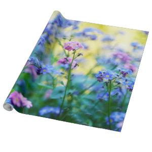 Gorgeous Photo of Multi-Colored Forget-Me-Nots Wrapping Paper