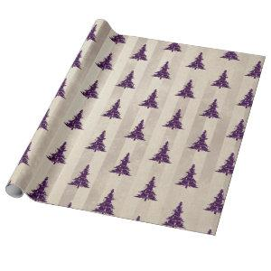 Gothic Christmas Tree Wrapping Paper