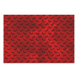 Gothic Red and Black Bat Wrapping Paper