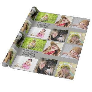 Grandmother Grandfather PHOTO Collage Gift Wrapping Paper