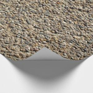 Gravel and Sand Rock Nature Photography Wrapping Paper
