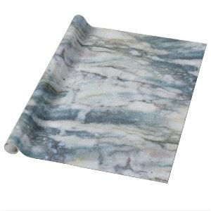 Gray And Blue Marble Texture Wrapping Paper