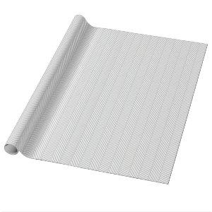 Gray and White Herringbone Wrapping Paper