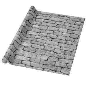 Gray stone wall as an abstract background.