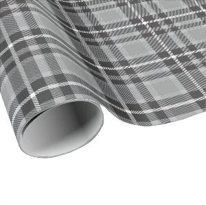 Gray Tartan Wrapping Paper