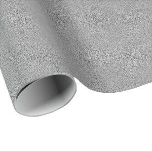 Gray Ultrasuede Look Wrapping Paper