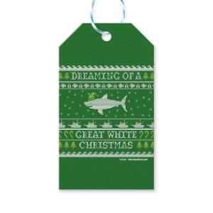 Great White Christmas Green Ugly Sweater Gift Tags