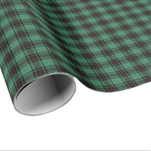 Green and Black Fife District Ancient Tartan Wrapping Paper