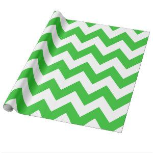 Green Bold Chevron Wrapping Paper