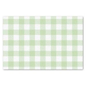 Green Buffalo Check Pattern Tissue Paper