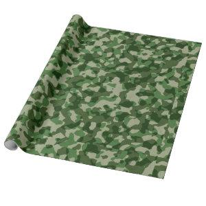 Green Camo Wrapping Paper