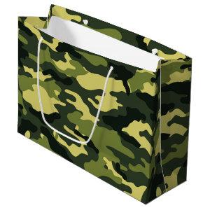 Green camouflage Large Gift Bag