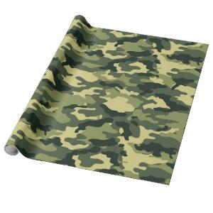 Green Camouflage Pattern Wrapping Paper