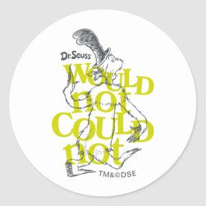 Green Eggs and Ham | Would Not Could Not Classic Round Sticker