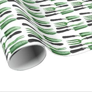 Green Gardening Tools Wrapping Paper