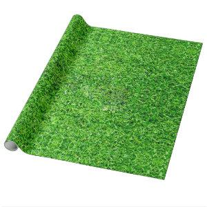 Green Grass Texture Wrapping Paper