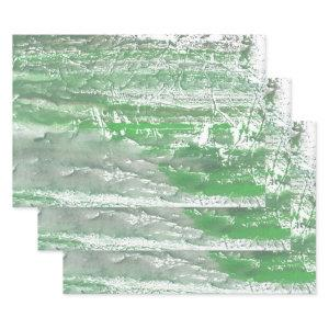 Green marble art wrapping paper sheets
