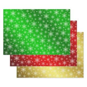 green,red,gold,Christmas+ paper, winter+patte, mer Wrapping Paper Sheets