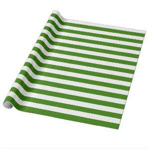 Green Stripes on custom Color Wrapping Paper