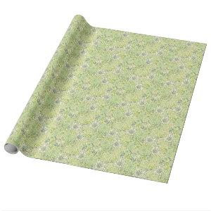 Green succulents pattern wrapping paper