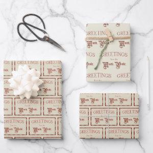 Greetings from the North Pole Wrapping Paper Sheets