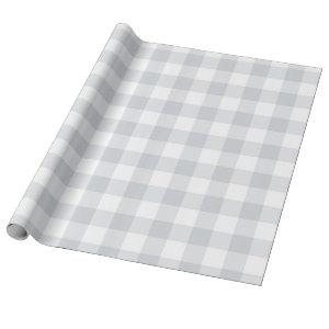 Grey Buffalo Check Wrapping Paper
